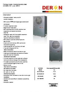 water heat pump for outside installation