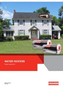 Water Heaters Product Guide 2013