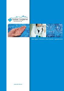 Water Hygiene Chlorination Water Treatment Legionella Control