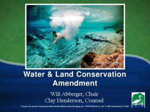 Water & Land Conservation Amendment