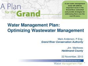 Water Management Plan: Optimizing Wastewater Management