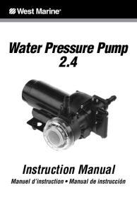 Water Pressure Pump 2.4