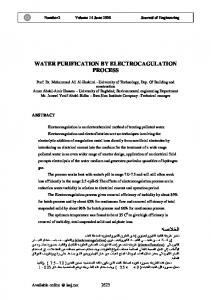 WATER PURIFICATION BY ELECTROCAGULATION PROCESS