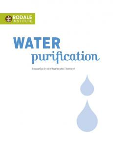 water purification Innovative On-site Wastewater Treatment