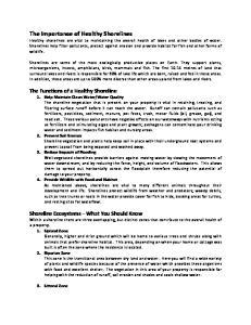 Water Quality 2. Prevent Soil Erosion