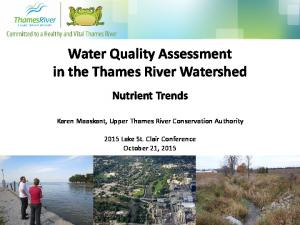 Water Quality Assessment in the Thames River Watershed