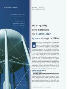 Water quality considerations for distribution system storage facilities