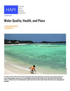 Water Quality, Health, and Place