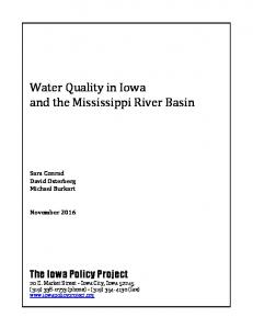 Water Quality in Iowa and the Mississippi River Basin
