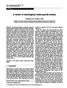 water-quality models
