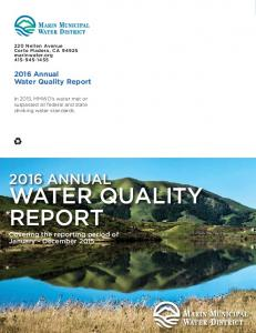 WATER QUALITY REPORT 2016 ANNUAL Annual Water Quality Report