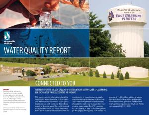 WATER QUALITY REPORT. This is a publication of the Public Information Office. Printed on recycled paper