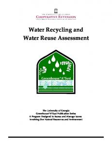 Water Recycling and Water Reuse Assessment