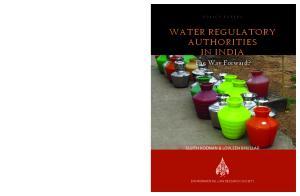 WATER REGULATORY AUTHORITIES IN INDIA