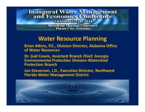 Water Resource Planning