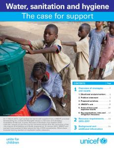 Water, sanitation and hygiene