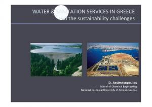 WATER & SANITATION SERVICES IN GREECE and the sustainability challenges