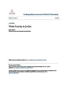 Water Scarcity in Jordan