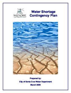 Water Shortage Contingency Plan
