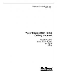 Water Source Heat Pump Ceiling Mounted