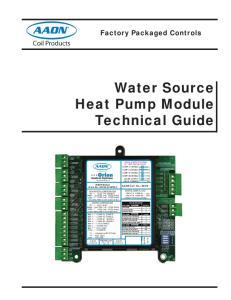 Water Source Heat Pump Module Technical Guide