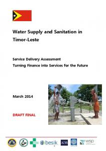 Water Supply and Sanitation in Timor-Leste