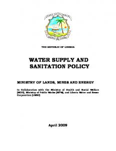 WATER SUPPLY AND SANITATION POLICY