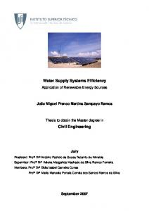 Water Supply Systems Efficiency