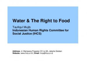 Water & The Right to Food