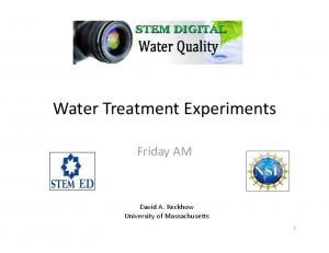 Water Treatment Experiments