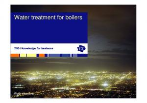 Water treatment for boilers. Water treatment