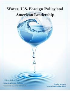 Water, U.S. Foreign Policy and American Leadership