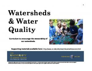 Watersheds & Water Quality