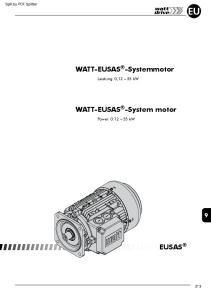 WATT-EUSAS -Systemmotor. WATT-EUSAS -System motor