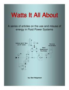 Watts It All About. Watts It All About