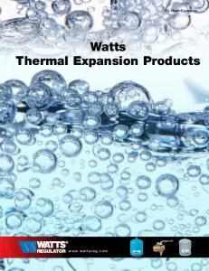 Watts Thermal Expansion Products