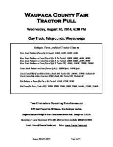 Waupaca County Fair Tractor Pull