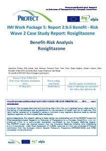 Wave 2 Case Study Report: Rosiglitazone Benefit-Risk Analysis Rosiglitazone