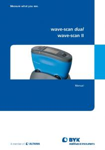 wave-scan dual wave-scan II