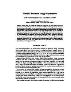 Wavelet Domain Image Separation
