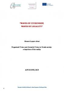 WAVES OF CITIZENSHIP, WAVES OF LEGALITY