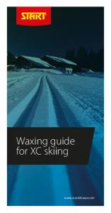 Waxing guide for XC skiing