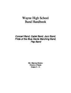 Wayne High School Band Handbook