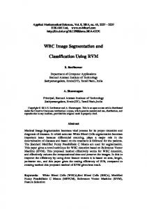 WBC Image Segmentation and. Classification Using RVM