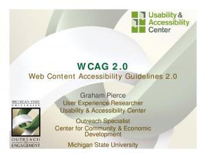 WCAG 2.0 Web Content Accessibility Guidelines 2.0