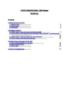 WCDMA USB Modem MANUAL