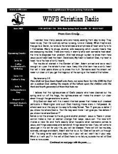 WDFB Christian Radio. From Don Drake