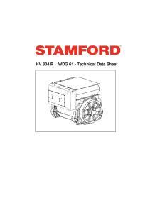 WDG 61 - Technical Data Sheet