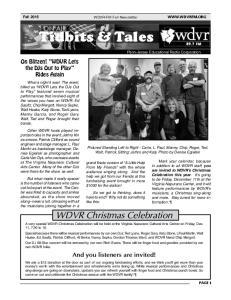 WDVR-FM Fall Newsletter
