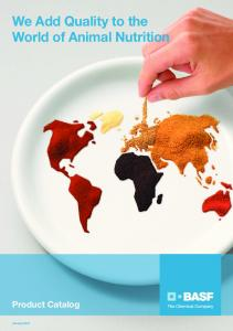 We Add Quality to the World of Animal Nutrition
